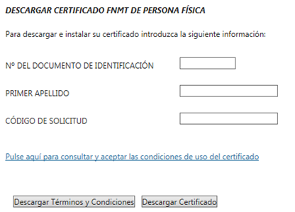 Descarga certificado digital si eres persona física