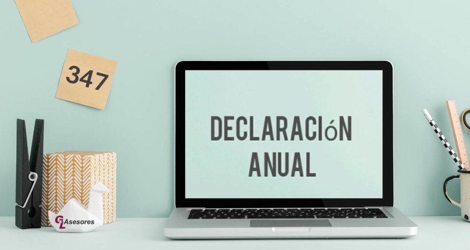 modelo 347. Declaración anual