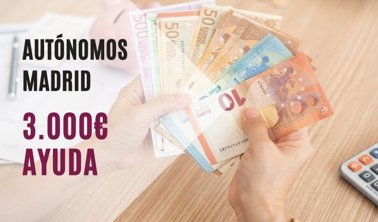 Ayuda 3.000€ autónomos CAM